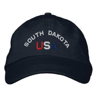 South Dakota USA Embroidered Navy Blue Hat