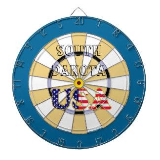 South Dakota USA flag Dart Board