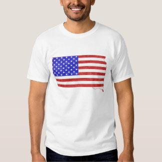 South Dakota USA flag silhouette state map T Shirt