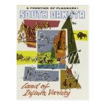 South Dakota USA vintage travel postcard