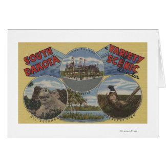 South Dakota - Variety of Scenic Wonder Greeting Cards