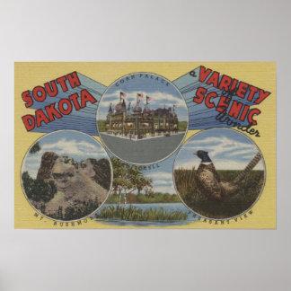 South Dakota - Variety of Scenic Wonder Poster