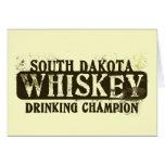 South Dakota Whiskey Drinking Champion Greeting Card