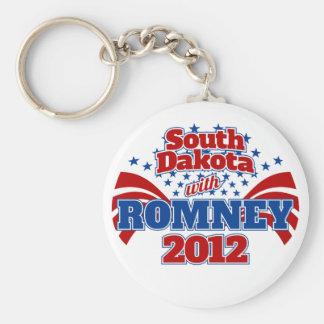 South Dakota with Romney 2012 Basic Round Button Keychain