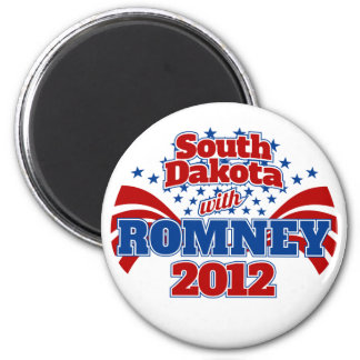 South Dakota with Romney 2012 Magnet
