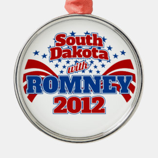 South Dakota with Romney 2012 Metal Ornament