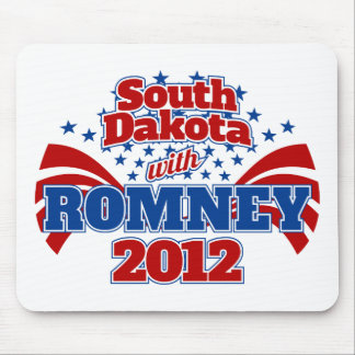 South Dakota with Romney 2012 Mouse Pad