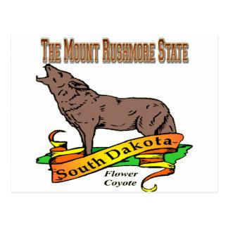 South Dakoya Mount Rushmore Coyote Postcard