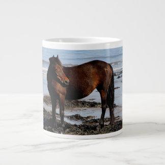 South Devon Beach Dartmoor Pony Looking Large Coffee Mug