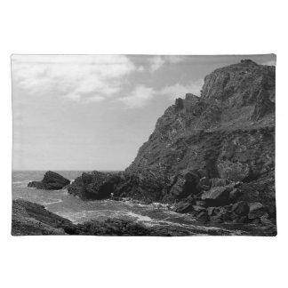 South Devon Coast Prawle Point B & W Cloth Placemat