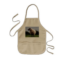 South Devon Coast Sheep Standing Looking Kids' Apron