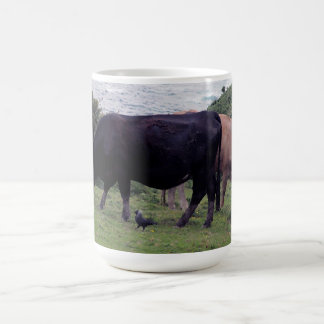 South Devon Coastline Two Cows And A Jackdaw Coffee Mug