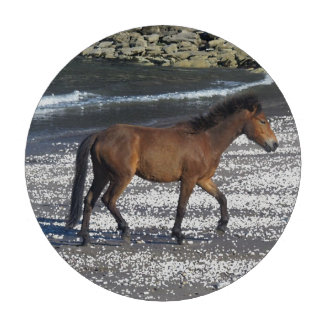 South Devon Dartmoor Pony Trotting On Beach Set Of Poker Chips