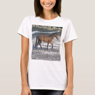 South Devon Dartmoor Pony Trotting On Beach T-Shirt