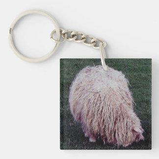 South Devon Scruffy Long Wool Sheep Grazeing Keychain