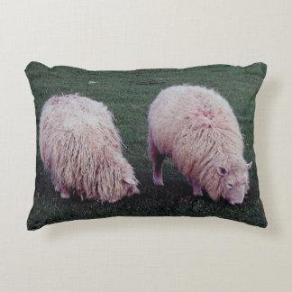 South Devon Two Long Wool Sheep Grazing Accent Cushion