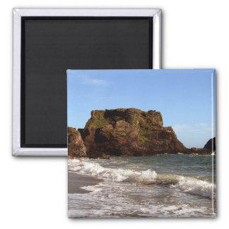 South Devon Westcombe Beach 2 Inch Square Magnet