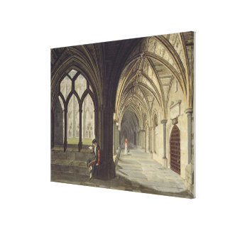 South East Angle of the Cloisters, plate T from 'W Canvas Print
