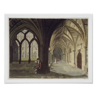 South East Angle of the Cloisters, plate T from 'W Poster