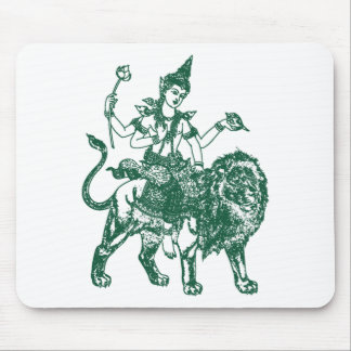 SOUTH EAST ASIAN SITTING BUDDHA ON LION MOUSE PAD