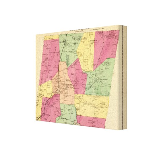 South East, Town Canvas Print