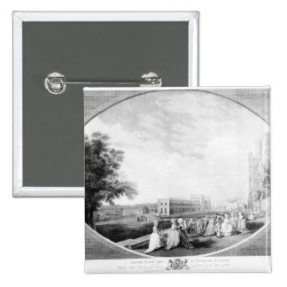 South East view of Windsor Castle 2 Inch Square Button