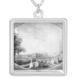 South East view of Windsor Castle Silver Plated Necklace