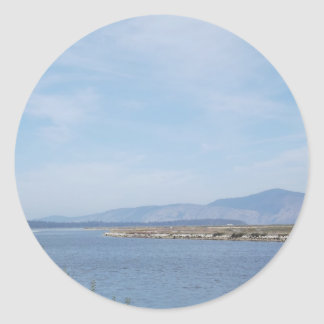 South End of Klamath Lake Classic Round Sticker