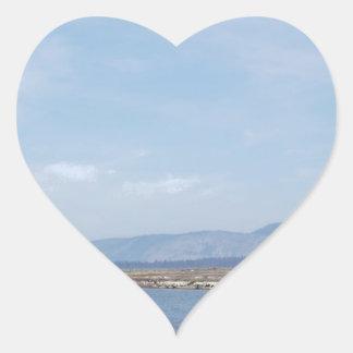 South End of Klamath Lake Heart Sticker