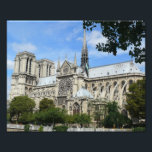 "South Facade, Notre Dame Cathedral, Paris, France Photo Print<br><div class=""desc"">In this photo the south facade of Notre-Dame Cathedral is seen under a beautiful,  bright-blue summer sky in Paris,  France.</div>"