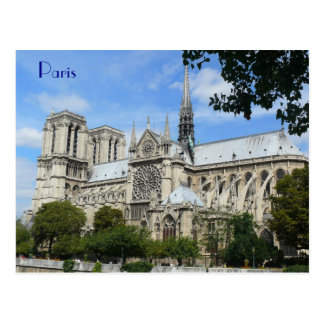 South Facade, Notre Dame Cathedral, Paris, France Postcard