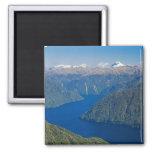 South Fiord, Lake Te Anau, Fiordland National 2 Inch Square Magnet