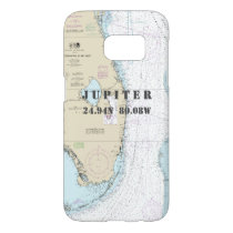 South Florida Latitude Longitude Nautical Chart Samsung Galaxy S7 Case