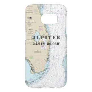 South Florida Latitude Longitude Nautical Chart Samsung Galaxy S7 Case