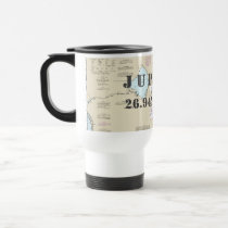 South Florida Latitude Longitude Nautical Chart Travel Mug