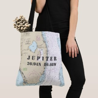 South Florida Latitude Longitude Nautical Theme Crossbody Bag