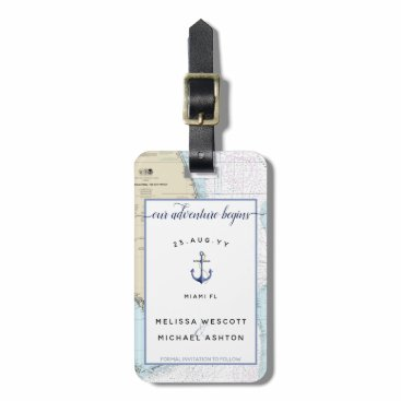 South Florida Save the Date Destination Wedding Bag Tag