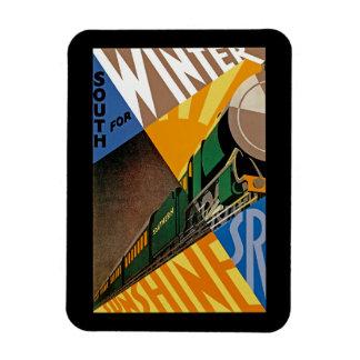 South For Winter Sunshine Vinyl Magnet