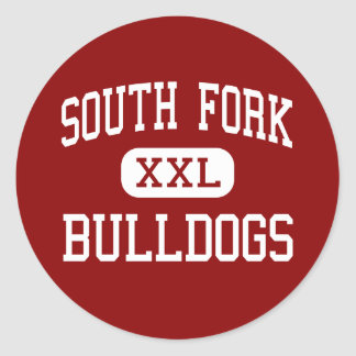 South Fork - Bulldogs - High - Stuart Florida Round Stickers