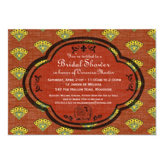 "South France Provencal Bridal Shower Invite Rust 5"" X 7"" Invitation Card"