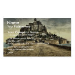 South front from the dike, Mont St. Michel, France Double-Sided Standard Business Cards (Pack Of 100)