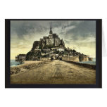 South front from the dike, Mont St. Michel, France Greeting Card