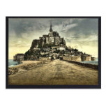 South front from the dike, Mont St. Michel, France Postcard