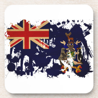 South Georgia and South Sandwich Islands Flag Beverage Coaster