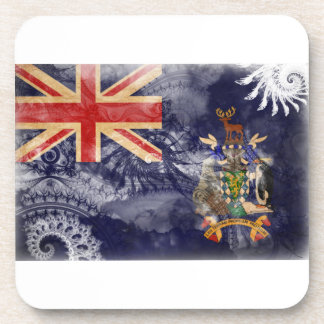 South Georgia and South Sandwich Islands Flag Drink Coaster