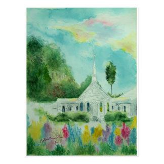 South Georgia Country Church Watercolor Postcard