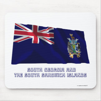 South Georgia &  S Sandwich Islands Flag with Name Mouse Pad