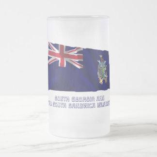 South Georgia S Sandwich Islands Flag with Name Mug