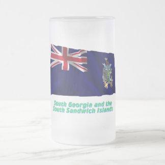 South Georgia S Sandwich Islands Flag with Name Coffee Mugs