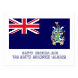 South Georgia &  S Sandwich Islands Flag with Name Postcard